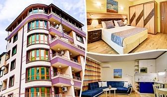 Нощувка за до четирима в луксозен апартамент от Sea Garden Apart, Поморие
