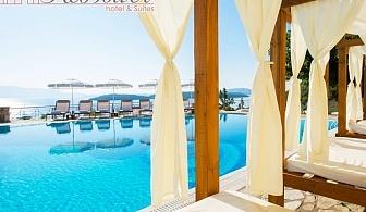 Нощувка на човек със закуска + басейн и частен плаж от бутиков хотел Red Tower, Никиана, о. Лефкада, Гърция
