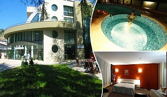 Нощувка на човек със закуска + минерален басейн в Хотел Евридика, Девин.