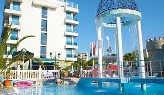 Нощувка на човек със закуска, обяд и вечеря + басейн в хотел Китен Бийч, на 200 м. от плажа в Китен