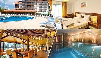 Нощувка на човек със закуска, обяд и вечеря (по избор) + басейн и СПА зона в Балканско Бижу апартхотел****, до Банско