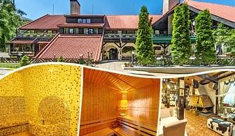 Нощувка на човек със закуска, обяд и вечеря + сауна, парна баня и леден душ в хотел Бреза*** Боровец