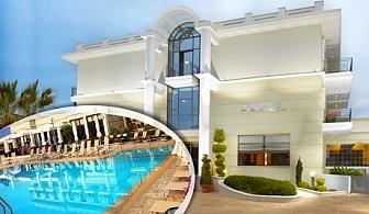 Нощувка на човек със закуска и вечеря + басейн в 4- звездния Danai Hotel на Олимпийската Ривиера в Гърция!