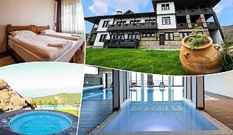 Нощувка на човек със закуска и вечеря + басейн и релакс център в хотел Лещен, с. Лещен
