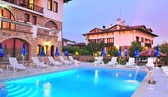 Нощувка на човек със закуска и вечеря + 2 басейна и релакс зона от хотел Винпалас, Арбанаси