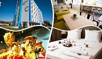 Нощувка на човек със закуска и вечеря в хотел Корт Ин, Панагюрище