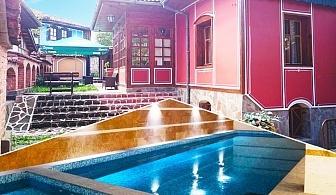 Нощувка на човек със закуска и вечеря + НОВ басейн с минерална вода и релакс зона в комплекс Галерия, Копривщица
