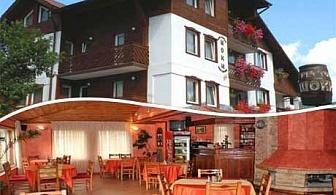Нощувка на човек със закуска и вечеря + сауна или парна баня в хотел Шоки, Чепеларе