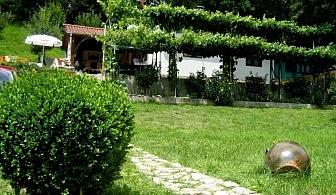 Нощувка за 5 човека + лятно барбекю с навес, голяма градина и детски кът в къща Ломар край Калофер