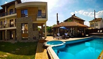 Нощувка за двама, трима или четирима + закрит басейн и джакузи с минерална вода в Къща за гости Биг Хаус, Огняново