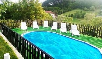 Нощувка за трима или четирима + басейн, механа и барбекю от къща за гости Елена, край Смолян
