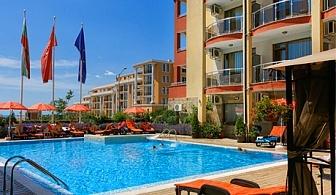 Нощувка, закуска, обяд и вечеря + басейн в хотел Александра, Свети Влас