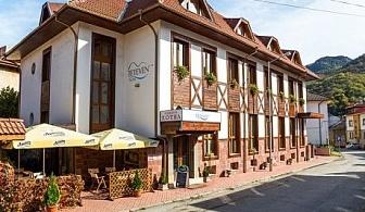 Нощувка със закуска, обяд и вечеря + сауна само за 39.50 лв. в хотел Тетевен, гр. Тетевен