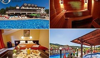 Нощувка, закуска и вечеря + горещ минерален басейн, топло джакузи и СПА в хотел Аспа Вила, с Баня до Банско
