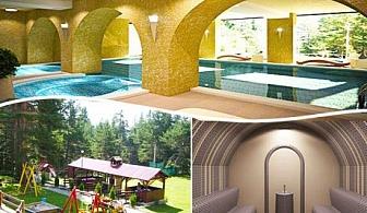 Нощувка, закуска и вечеря + релакс зона и топъл басейн на ТОП ЦЕНИ  в хотел Бор, Семково
