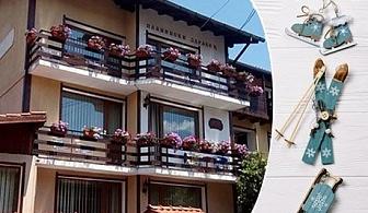 Нощувка със закуска и вечеря + сауна от къща за гости Планински Здравец, Банско