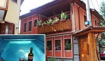 Нощувка със закуска и вечеря + ТОПЪЛ басейн само за 27 лв. в Тодорини къщи, Копривщица
