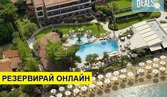 5+ нощувки на човек на база Закуска и вечеря в Anthemus Sea Beach Hotel & Spa 5*, Никити, Халкидики