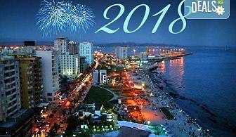 Нова година в Дуръс, Албания! 4 нощувки със закуски в Bonita 4*, 1 стандартна и 2 празнични вечери, транспорт и посещение на Струга от София Тур!