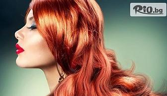 Нова свежа прическа! Боядисване с боя на клиента, подстригване и сешоар, от Салон Angelica Beauty
