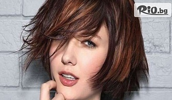 Нова визия! Подстригване + изсушаване и оформяне на косата със сешоар, от Салон Angelica Beauty