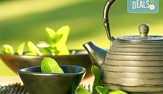 За нови сили и настроение! 60-минутен енергизиращ масаж с мента и зелен чай на цяло тяло, за преодоляване на умората и стреса, подарък-масаж на лице в студио GIRO!