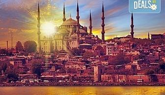 От октомври до декември в Истанбул, Турция! Екскурзия с 2 нощувки със закуски, транспорт, екскурзовод и възможност за посещение на пеещите фонтани в Watergarden!