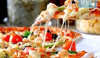 Опитайте най-вкусната пица в София! Заповядайте в ресторант Felicita by Leo's и вземете изкусителна италианска пица с кашкавал по Ваш избор!