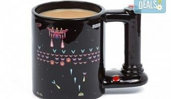 Оригинален подарък! Голяма, сменяща цвета си чаша за геймъри, изработена от качествена керамика!