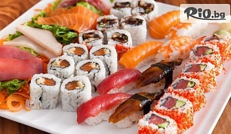 Оушън суши сет с 34 хапки, 800 г. за дома и офиса, от Sushi House