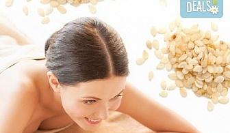 Оздравителен масаж на цяло тяло със сусамово масло, богато на калций, цинк, витамини А, B1 и Е и зонотерапия в Спа център Senses Massage & Recreation