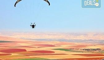 Панорамен тандемен полет с парапланер - свободно летене край Варна или Шумен със заснемане с HD аction камера от Dedalus Paragliding Club!