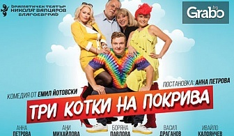"""С парашут на хитовата комедия """"Три котки на покрива"""" - на 29 Ноември"""