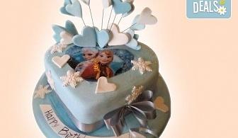 25 парчета! Детска 3D торта с фигурална ръчно изработена декорация от Сладкарница Джорджо Джани
