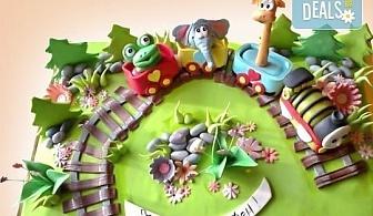 25 парчета! Голяма детска 3D торта с фигурална ръчно изработена декорация от Сладкарница Джорджо Джани