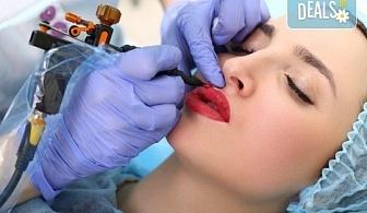 Перфектна във всеки един момент! Перманентен грим на вежди или устни или освежаване на стар перманентен грим в NSB Beauty Center