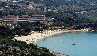 Петзвезден лукс на пясъчен плаж в хотел Royal Paradise - о-в Тасос. За една нощувка със закуска, вечеря, чадър и шезлонг на плаж, външен и вътрешен басейн / 28.04.2017 - 31.05.2017