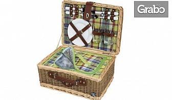 Пикник кошница Cilio Melano с хладилно отделение, оборудвана за двама