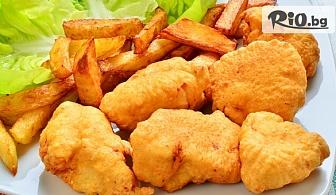 Пилешки хапки и картофки + 2 бири за двама или Комбинирано плато четирима, от Ресторант Интелкооп