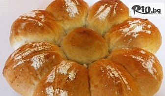"""Питка """"Слънце"""", Вита баница със сирене или Домашен тутманик със сирене и кашкавал, от Пекарна Taste It"""