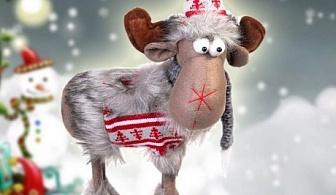 Платнена фигура на коледен елен