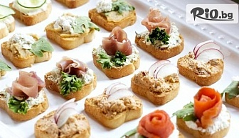 Плато хапки, аранжирани и декорирани за директно сервиране - 100, 149 или 170 броя, от Криейтив кетъринг