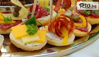 Плато хапки - 100, 149 или 170 броя, аранжирани и декорирани за директно сервиране, от Криейтив кетъринг