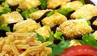 Плато пържени картофки и 60бр. хапки сирене и кашкавалчета пане + БЕЗПЛАТНА ДОСТАВКА само за 29лв. oт H&D кетъринг