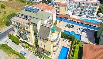 На 50м. от плажа в между Равда и Несебър! Нощувка на човек + басейн в хотел Ривиера