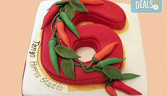 За почитателите на българската музика и фолклор! Едноетажна торта с 25 парчета от Сладкарница Джорджо Джани!