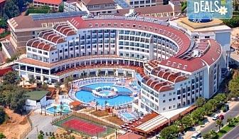 Почивка в Анталия през април или май! 7 нощувки на база All Incl в Side Prenses Resort Hotel & Spa 5*, билет, летищни такси и трансфери!