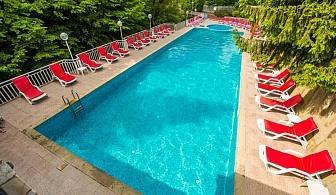 Почивка с гореща минерална вода в Троянския балкан! Нощувка, закуска и вечеря + топъл басейн и сауна в хотел Дива, с.Чифлик!