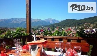 Почивка в Калофер до края на Април! Нощувка със закуска и вечеря + бонус чаша вино, от Хотел Панорама 3*