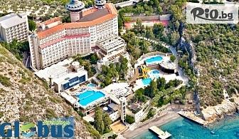 Почивка в Кушадасъ през Май! 4, 5 или 7 нощувки на база ULTRA All Inclusive в LADONIA HOTELS ADAKULE 5*, със собствен транспорт, от Глобус Холидейс